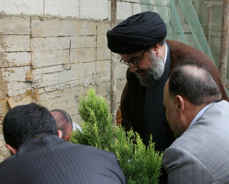 "Hizbullah SG Plants the ""One Million"" Tree Near His Home in Haret Hreik"
