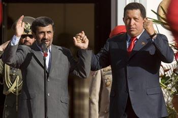 Ahmadinejad Arrives in Caracas, Chavez Slams US Anti-Iran Policies