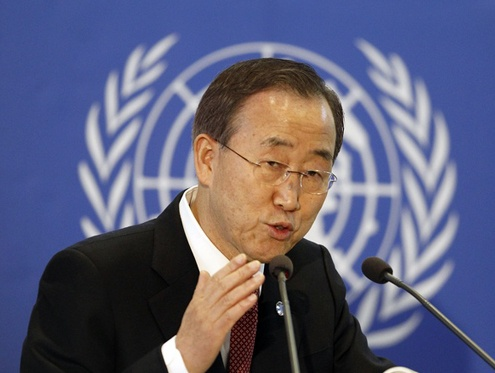 Ki-Moon: Syria Arms Suppliers Spreading Misery, Conflict Intensifying