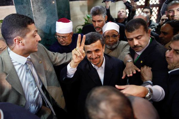Ahmadinejad's Historic Visit to Egypt Ends Friday