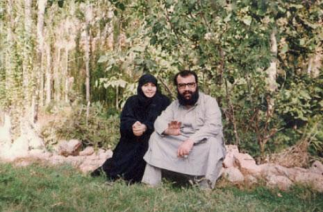 Sayyed Abbas al-Moussawi with his honorable spouse