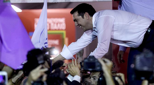 Greece's left-wing prime minister-elect Alexis Tsipras