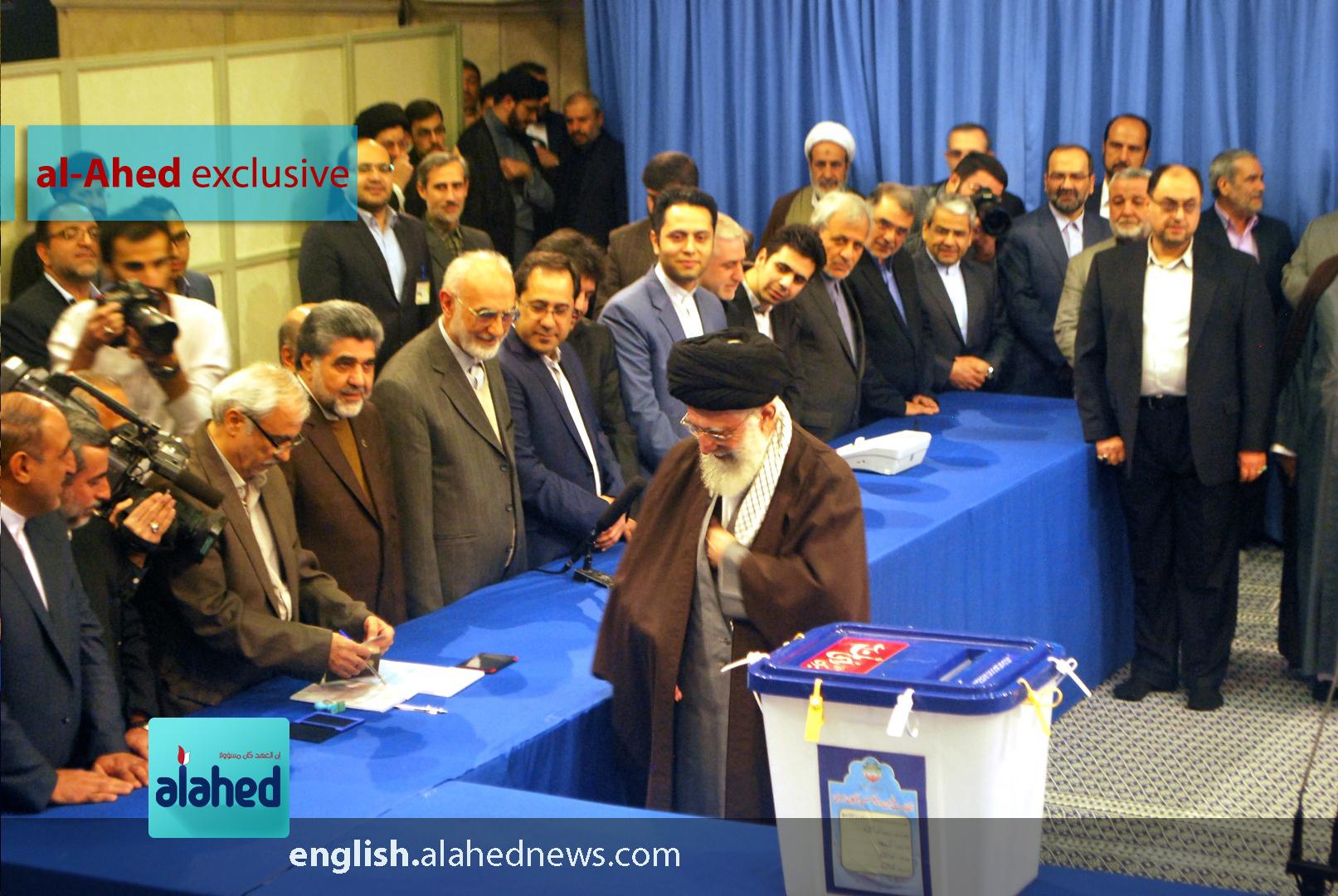 In Photos: Imam Khamenei Casts His Vote