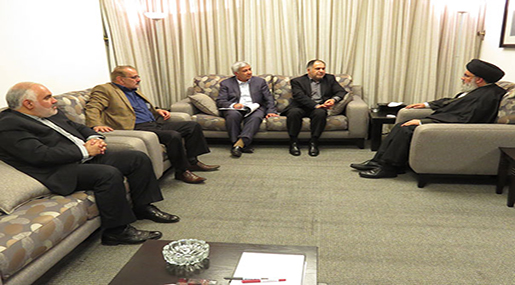 Sayyed Nasrallah Receives IRNA General Director & Ambassador FatehAli