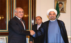 Suleiman Ends Tehran visit after meeting Rohani, Deliberates Bilateral Ties