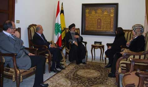 Sayyed Nasrallah Receives Algerian Nationalist Bouherid