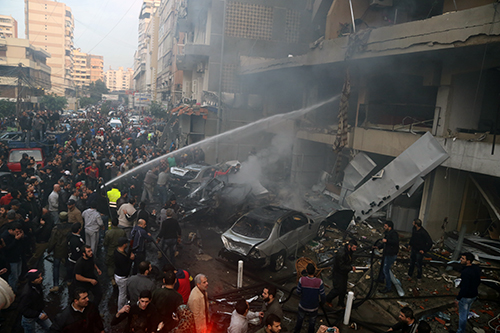 Photo report: Car Explosion in Haret Hreik, Dozens Wounded and Killed