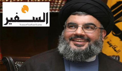 Sayyed Nasrallah to As-Safir Newspaper: Threat of Syrian Regime's Collapse Over