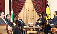Sayyed Nasrallah Receives Aoun: Facing the Dangerous 'Israeli', Takfiri Threats
