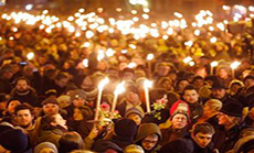 Thousands in Copenhagen Protest As Obama, Danish Leader Vow to Confront Terror