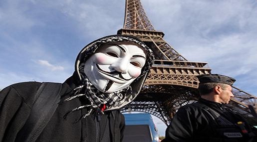 Anonymous Declares War on 'ISIS' Following Paris Attacks