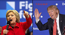 1st Nominating Contest in White House Race: Trump Falters, Clinton Pushed in Iowa