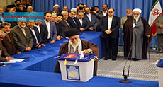 In Photos: Imam Khamenei Casts His Vote