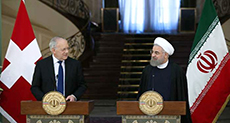 Iranian President Receives Swiss Counterpart, Hails People's Participation in Elections