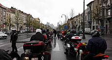Belgian Bikers' Rally Pays Tribute to Brussels Attacks Victims
