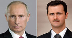 Al-Assad Congratulates Putin on Victory Day: Syrians Not Satisfied until Defeating Enemy