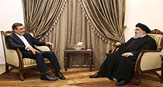 Sayyed Nasrallah Discusses Regional Developments with Iranian FM Spokesman