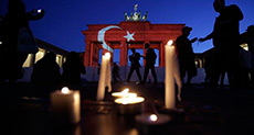 Cities Light Up for Turkey as Darkness Falls