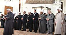 Eid Al-Fitr in Syria: Al-Assad Attends Prayers, Terrorists Martyr 3 Civilians