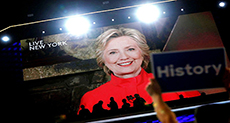 US 2016 Presidential Elections: Flag Burning Riles Crowds Outside DNC as Clinton Accepts Nomination