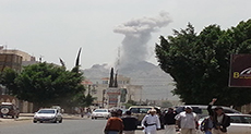 Saudi Warplanes Bomb Peaceful Rally of 100,000 in Sana'a