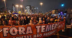 Massive Rally against Newly-installed Brazilian President