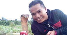Malaysian Fireman Says Snake Marriage Story Fake