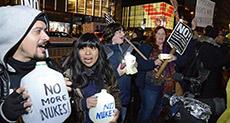 NYC Protesters Chant: No Nukes, No Trump