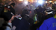 Trump Inauguration: Police Clash with Protesters in Washington