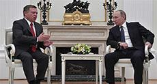 Putin Meets Jordan King, Says No Military Solution to Syria Crisis