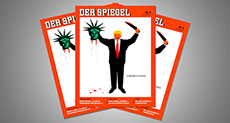 Trump «Beheads» Lady Liberty in Der Spiegel Magazine Cover