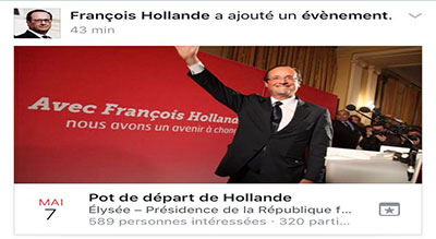 Hackers Create Fake Event on Hollande's Facebook Account