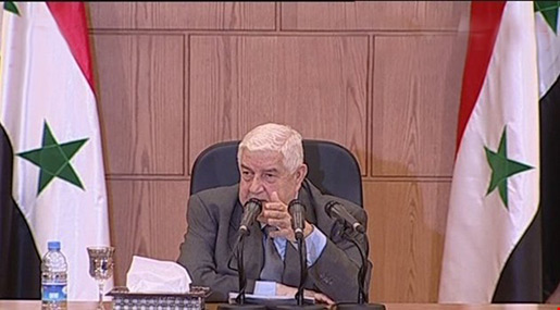 Al-Moallem: Syria Didn't, Will Not Use Chemical Weapons