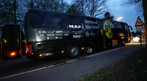 Blasts in Germany Hit Borussia Dortmund Soccer Team's Bus, Player Hurt