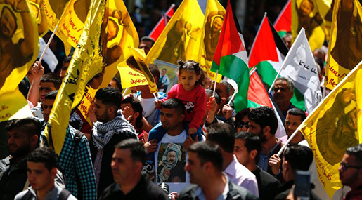 Barghouti in Solitary, Palestinians March in Support of Hunger Strikers