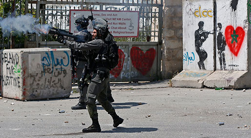 'Israeli' Forces Shell, Tear Gas Supporters of Palestinian Hunger Strikers