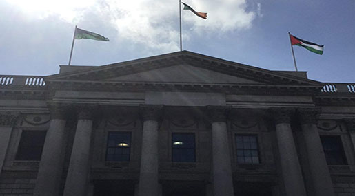 Dublin Votes To Fly Palestinian Flag above City Hall to Support Founding of State