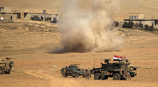 Iraq Presses Mosul Offensive, Calls On Civilians to Flee