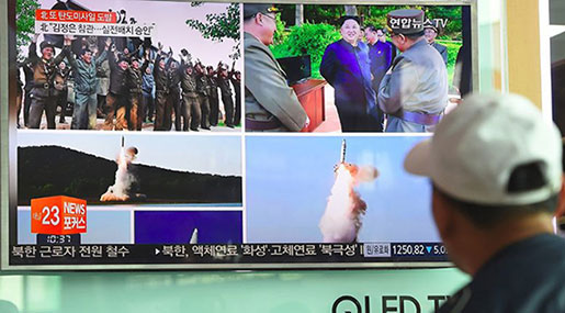 Pyongyang Launches 450 Km Ballistic Missile That Landed in Sea of Japan