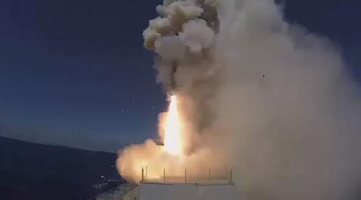Russian MoD: Frigate, Submarine Shell Daesh near Palmyra