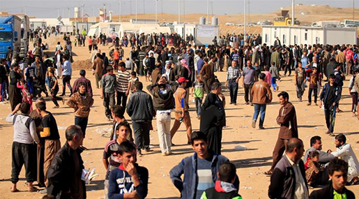 Mosul Displaced: Hundreds Suffer from Food Poisoning in Camp