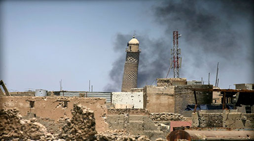 Battle for Mosul: Daesh Blows Up Mosque of Proclaimed Caliphate