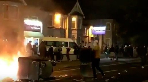 London Protesters Set Street Fires, Clash with Police Over Man's Death