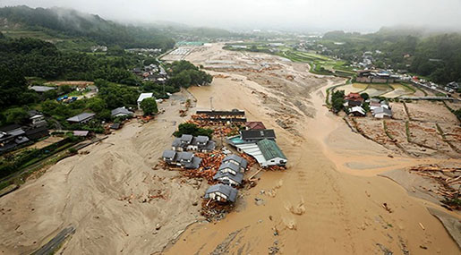 Japan Floods: 6 Killed, Mud Slows Search for 20 Missing