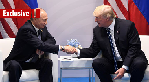 The First Face-to-Face Between Putin & Trump