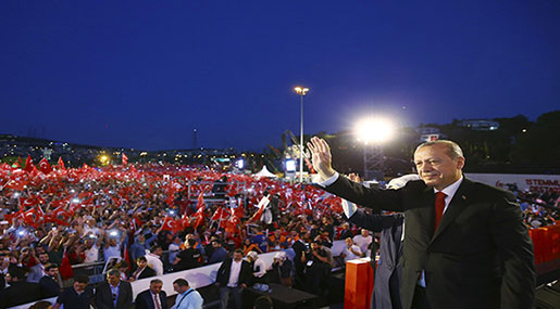 Turkey: Erdogan Vows Bloody Vengeance against Coup Plotters