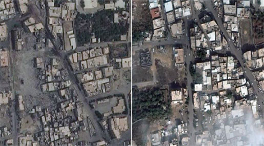 Satellite Images Show Scale of Devastation Inside Gov't-besieged Saudi Town