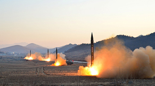 N Korea Launches First Missiles since US Nuke Threats Row