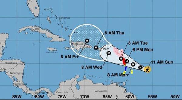 Hurricane Maria to Become Major Storm near Caribbean Islands