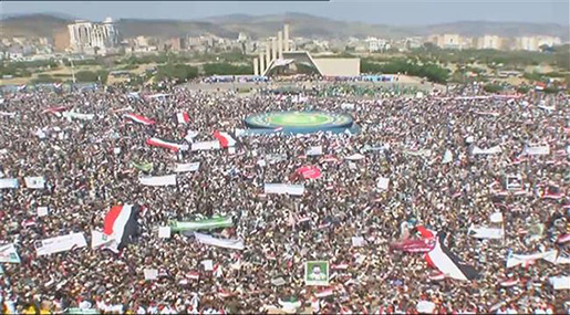 Yemenis Celebrate 3 Years of Revolution: Not to Surrender to Saudi Aggression